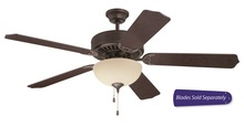 "Craftmade C202AG - Pro Builder 202 52"" Ceiling Fan with Light in Aged Bronze Textured (Blades Sold Separately)"