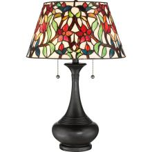 Quoizel TFRB6224TVB - Red Blossom Table Lamp
