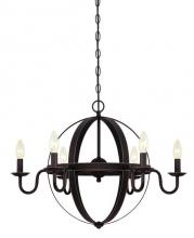Westinghouse 6303300 - 6 Light Chandelier Oil Rubbed Bronze Finish with Highlights