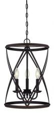 Westinghouse 6303700 - 3 Light Chandelier Oil Rubbed Bronze Finish with Highlights