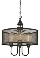 Westinghouse 6332900 - 4 Light Chandelier Oil Rubbed Bronze Finish with Highlights and Mesh Shade