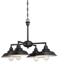 Westinghouse 6343300 - 4 Light Chandelier/Semi-Flush Oil Rubbed Bronze Finish with Highlights