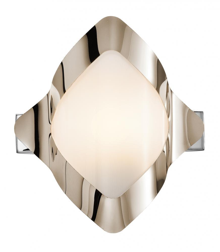 One Light Chrome Bathroom Sconce